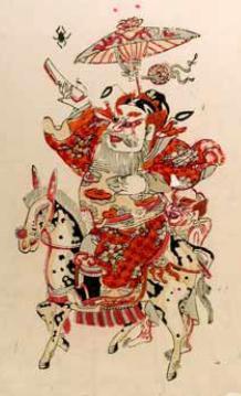 桃花期_桃花坞木刻年画欣赏之钟馗,苏州市特产,特产大全网