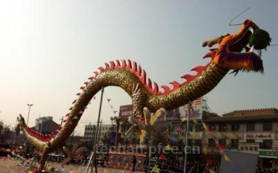 闻喜花馍世界纪录之最长飞龙